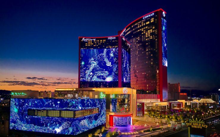 Der große Screen der Resorts World in Las Vegas ist fast 1 Hektar groß. (Foto: Resorts World Las Vegas)